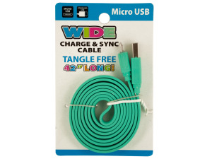 Wide Micro USB Charge & Sync Cable