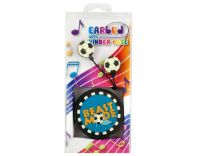 Themed Earbuds with Winder Case