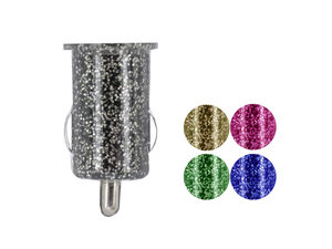Glitter Single Port USB Car Charger