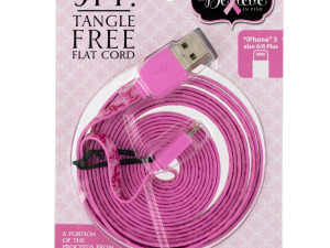 'Believe in Pink' iPhone Charging & Syncing Cord