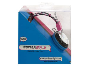 Vivitar Swag Style Cupcakes Stereo Headphones with Mic