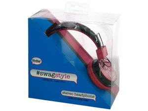Vivitar Swag Style Shoes Stereo Headphones with Mic