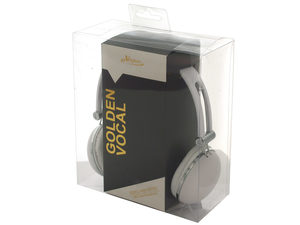 White Stereo Headphones with In-Line Microphone