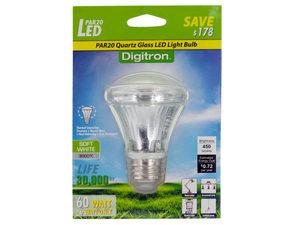 Wholesale: Soft White PAR20 Quartz Glass LED Light Bulb