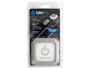 Square Silver CableHub Customizable Universal Charging Station