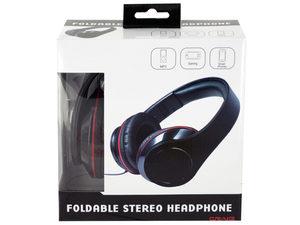 Black Foldable Stereo Headphones