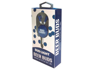Bud Light Beer Buds Earphones with Retractable Cable