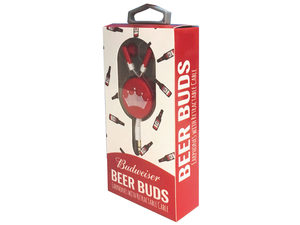 Budweiser Beer Buds Earphones with Retractable Cable