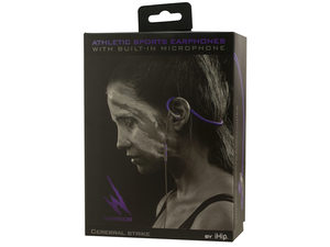IHip Warrior Athletic Sports Earphones with Built-In Mic