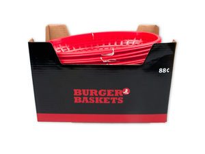 Wholesale: 2 Pc Burger Basket in Countertop Display