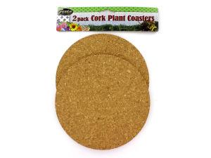 Wholesale: 2 Pack Cork Plant Coasters