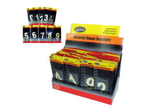 Wholesale: Brass House Number Assortment Countertop Display
