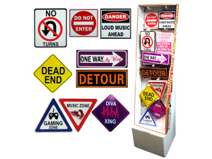Wholesale: Fun Room Signs Floor Display
