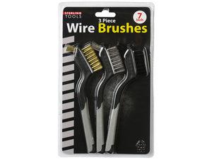 Wholesale: 3 Pack Mini Wire Brush Set