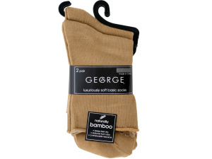 2 pair tan socks size 4-8