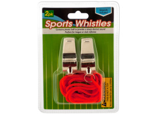 Wholesale: Sports Whistles with Lanyards