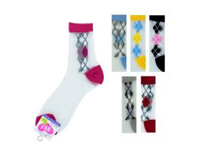 Hi cut argyle 9-11 socks
