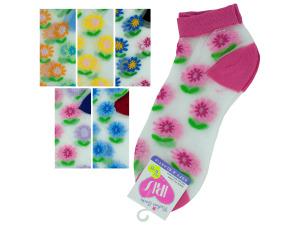 Low cut flower 9-11 socks