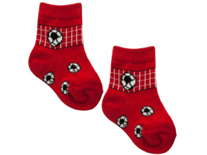 Red Soccer Rocker Baby Socks Set for 0-12 Months