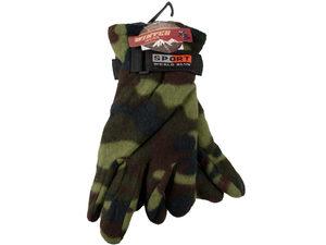 Camouflage Fleece Gloves
