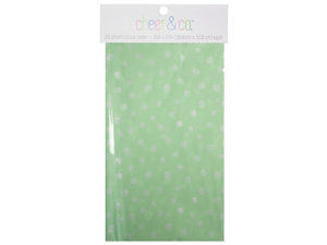 Wholesale: 20 count gift wrap tissue paper in mint with white dots
