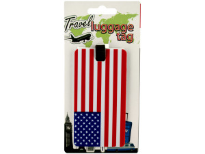Wholesale: American Flag Luggage Tag