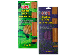 Wholesale: 40 Piece Incense Sticks With Holder