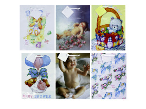 Wholesale: Baby gift bag, medium size, assortment