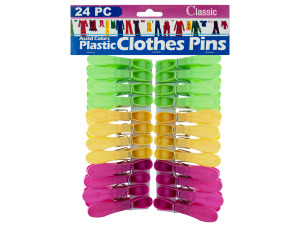 Wholesale: 24pc plastic clothespins