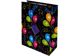 Wholesale: Bday med gift bag 1226blu