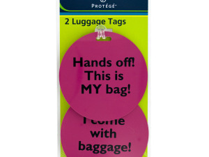 Wholesale: Assorted Phrase Luggage Tags