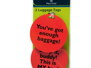 Wholesale: Assorted Fun Phrase Luggage Tags