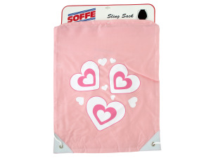 Pink Hearts Drawstring Sling Backpack