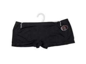 Women's Large Black Seamless Underwear Boy Cut Shorts