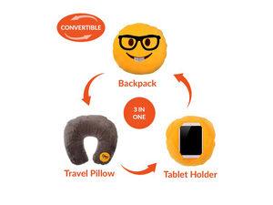 Wholesale: Emoticon 3 in 1 Travel Pillow - Nerd