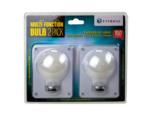 Wholesale: 2 Pack Bulb Shaped Multi Function Switch Light