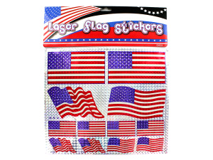 Wholesale: American flag laser stickers