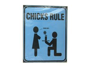 Wholesale: Chicks rule blue sign