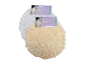 Wholesale: White Round Lace Table Doily Set