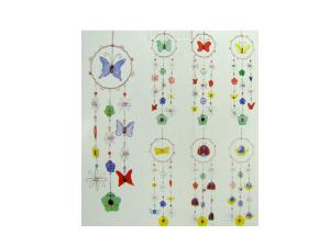 Butterflies & Flowers Glass Wind Chime