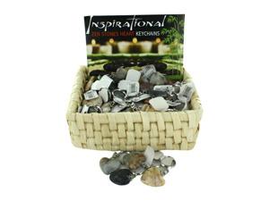 Wholesale: Zen Stones Heart Key Chains Countertop Display