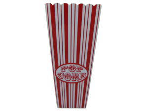 Wholesale: 35 oz. Red Striped Popcorn Bucket