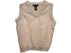 Wholesale: Brown stripe vest asst sz