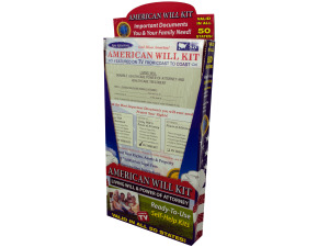 Wholesale: American living will and power of attorney kit display