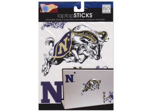 Navy Removable Laptop Stickers