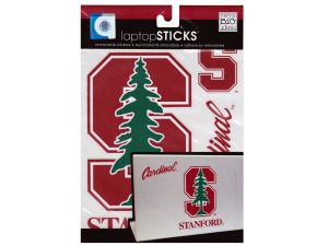 Stanford cardinal removable laptop stickers