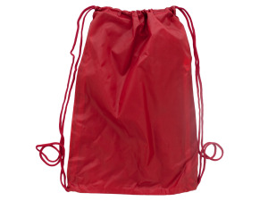 Red sling backpack