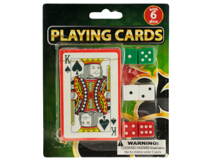 Wholesale: Casino Style Playing Cards with Dice