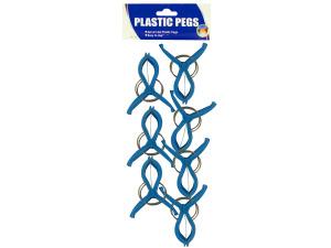 Wholesale: 14pc blue plastic pegs