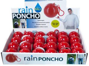 Wholesale: Rain Poncho in a Ball Countertop Display